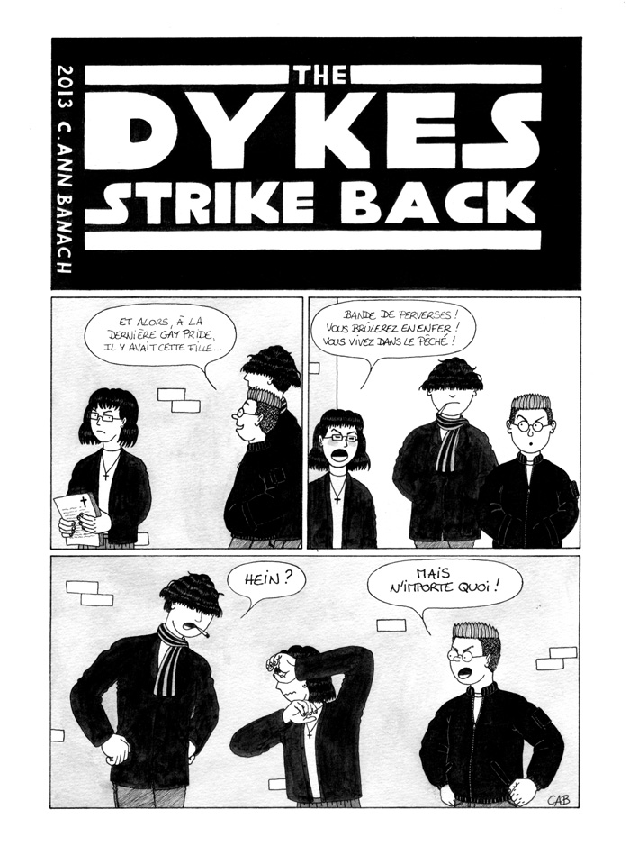 BD lesbienne - The Dykes Strike Back - Page 1